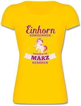 Shirtracer Geburtstag Kind - Einhorn Königinnen Wurden IM März Geboren - Mädchen T-Shirt