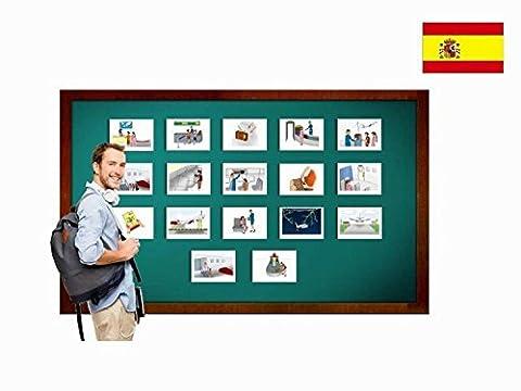 Bildkarten zur Sprachförderung in Spanisch - Flugreise - Tarjetas de vocabulario - Viajar