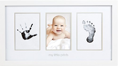 Pearhead Babyprints Newborn Baby Handprint and Footprint Photo Frame Kit with Included Safe...