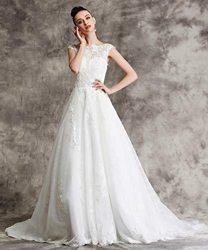 Brautkleid mit Spitze und Mieder - 3