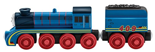 Fisher Price Toy - Thomas and Friends Wood Railway - Frieda Real Wooden Train Engine - Great Race