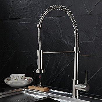 TIMACO Wasserhahn Küche Einhandmischer Federbrause - 9