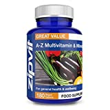 A-Z Multivitamins & Minerals | 180 Vegan Tablets | for General Health