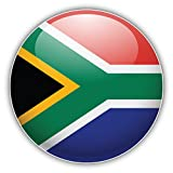 South Africa Glossy World Flag Label Art Decor Vinyl Sticker Aufkleber 12 x 12 cm
