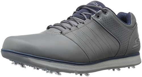 Skechers 2017 GO Golf Pro 2 Performance Leather Mens Golf Shoes Seam-Sealed Waterproof Charcoal/Navy...