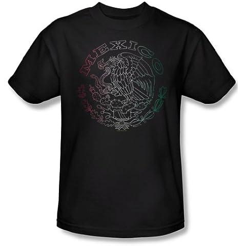 Bandera de México Logo - adulto Café de manga corta T-shirt para hombres