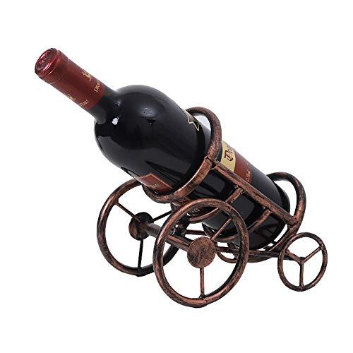 Lu Decoración del Hogar|Estante del Vino|Portabotellas|Arte De Hierro|Soporte De Exhibición|21 * 13.5 * 18.5|0.65kg