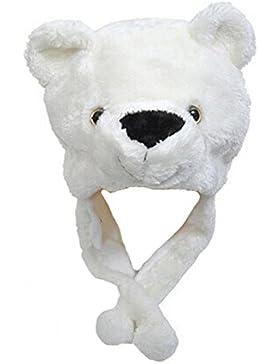 DELEY Unisex Mujere Niñas Niños Animal Historieta Cálido Sombrero Juguete de Peluche Regalo De Halloween Navidad