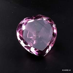 Herz Pink, Größe: 50 x 40 mm, Glaskristall-Herzen boxed.. Geschenk ideal als Geschenk Für Geburtstage, Christmas......