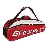 RUIXIA Sac de Raquette Tennis Badminton Sac de Grande Capacité pour 6 Raquettes Sac d'équipements de Tennis Sac de Transport Sac à...