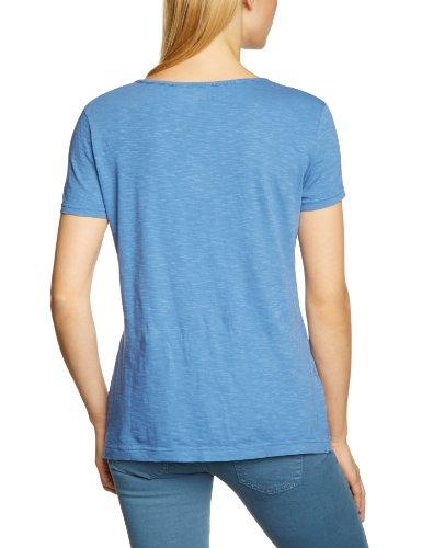 Eddie Bauer Damen T-Shirt 21302012, V-Ausschnitt Blau (Blau)