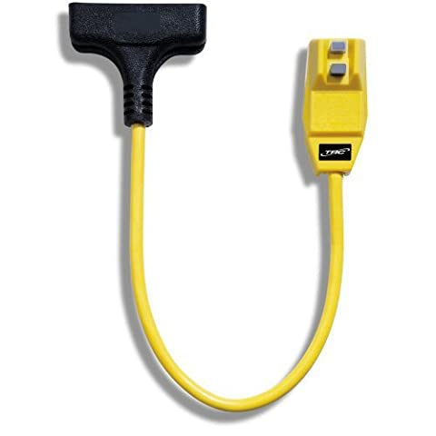 TRC 14880023-6 12/3-Gauge Shockshield GFCI Protected Right Angle Plug Tri-Cord with 3-Outlets, 2-Feet, 15-Amp, Yellow by TRC