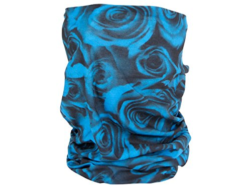 Foulard fazzoletto da collo sciarpa funzionale multiuso scaldacollo tubolare leggero e morbido estate primavera autunno inverno loop anello ragazze colorati stola accessorio moderno lifestyle, Multituch MF-140-173:MF-142 Rosa blu