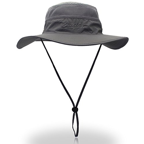 591da050d Outfly Wide Brim Sun Hat Mesh Bucket Hat Lightweight Bonnie Hat ...