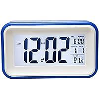 SODIAL(R) Touch-LCD-Digital-Wecker LED-Licht Snooze Hintergrundbeleuchtung Digit Zeit Kalender - blau preisvergleich bei billige-tabletten.eu