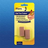 TheraStep | Gel Toe Tubes x2 | Fully Lined with Protective Gel | Soothing Vitamin E & Aloe