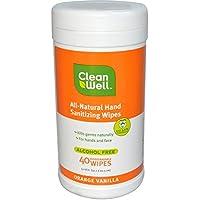 cleanwell Salviette disinfettanti per le mani–Profumo di arancione e