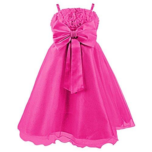 Imagen de princesas disney  vestido de verano de fiestas y gala con falda de tul, con cinturón de parlas y lazo para niña, color rosa, 2 3 años  katara 1716