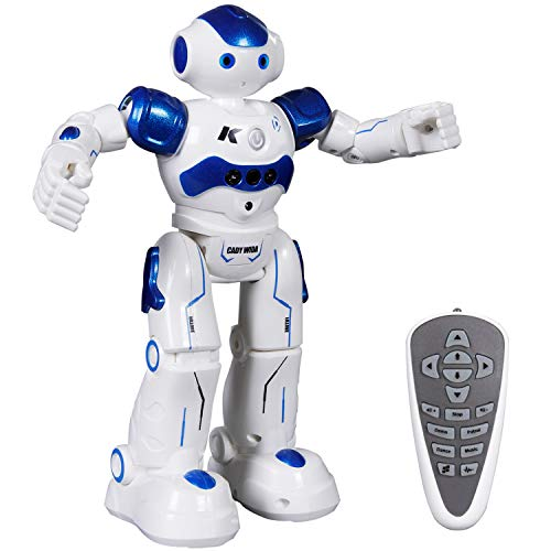 SGILE Recargable Robot Juguete, Programación Inteligente Sensación Robots para niños, Bailando Cantando Caminando Regalo para Niños, Azul
