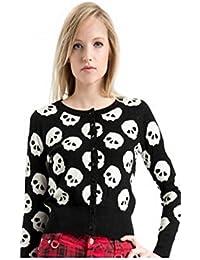 Jawbreaker - Top à manches longues - Pull - Femme Multicolore Noir/blanc