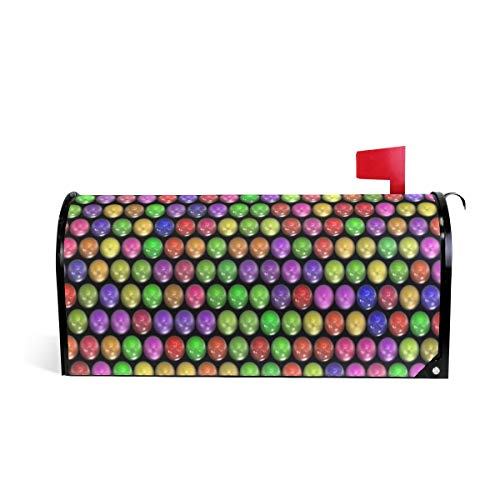 HEOEH Briefkasten-Abdeckung, magnetisch, Glas, bunt, 64,5 x 5,8 cm 52.6x45.8cm Mehrfarbig