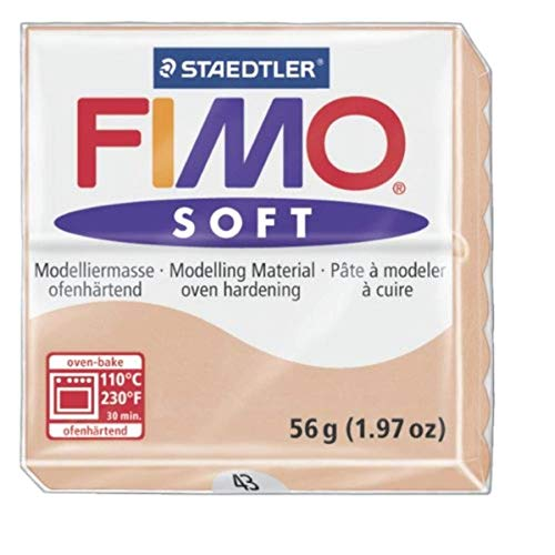 Staedtler Fimo Soft Pâte à modeler à cuire au four 56 g, beige, 1