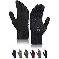 TRENDOUX Soft Warm Touch Screen Winter Thermal Gloves Men Women, Non-slip Grip, Elastic Cuff, Knit Stretchy Material