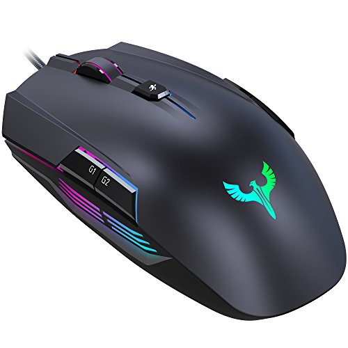 mouse da gaming Gaming Mouse, BLADE HAWKS Mouse da Gioco Regolazione RGB con 8 Pulsanti Programmabili, 4000 DPI Switch per Windows 10/8/7/XP, PC Laptop Computer Notebook
