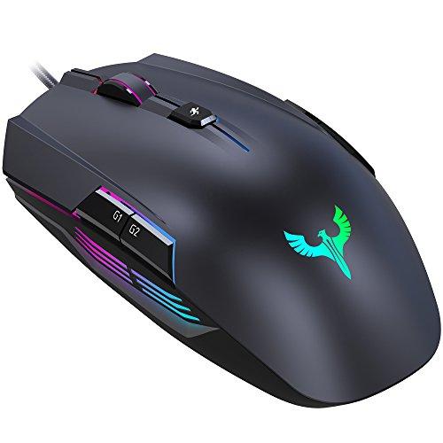 Gaming Maus, BLADE HAWKS Gaming Mäuse Gamer Maus LED RGB mit 4000 DPI, 8 Programmierbare Tasten für PC Pro Spieler, Windows XP/Visa/7/8/10 Hawk Pc
