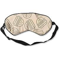 Funny Hamburgers Pattern 99% Eyeshade Blinders Sleeping Eye Patch Eye Mask Blindfold For Travel Insomnia Meditation preisvergleich bei billige-tabletten.eu
