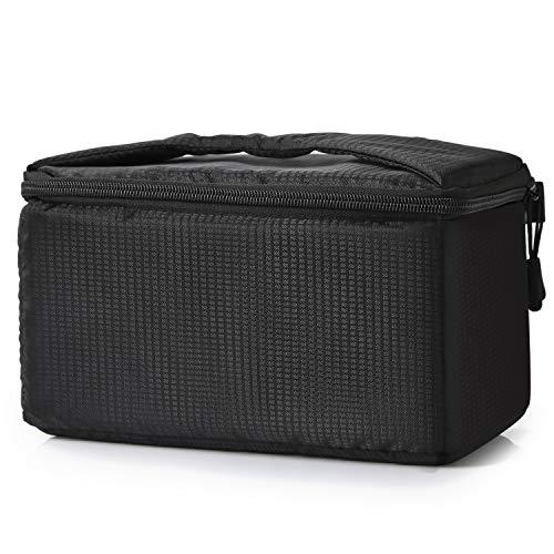 Koolertron Kamera Schutztasche,wasserdichte Stoßfest Gepolsterte Partition SLR Kameratasche für Sony Canon Nikon DSLR (Schwarz)
