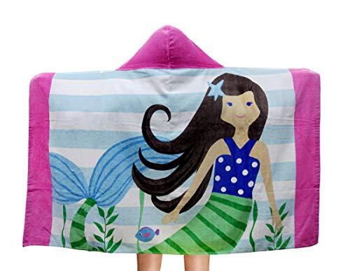 Repuhand Niños 100% algodón Playa Toalla con Capucha Albornoz Infantil Poncho Toalla con Capucha para niño niña Nadar Beach Holiday
