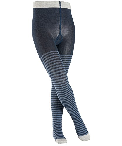 ESPRIT Mädchen Strumpfhose Stripes, Mehrfarbig (Navy Meliert 6127), 98 (Navy Strumpfhose)
