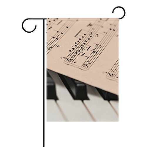 Garten Flagge Banner Musik Score Tabelle Tastatur Klavier Schlüssel 30,5x 45,7cm Doppelseitig 12x18 inches Image 2550
