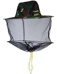 Chapeau Casque de Filet à Mailles de Protection Anti Moustique Insecte Abeille