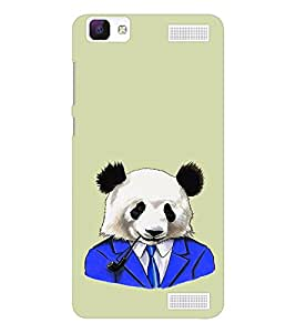 EPICCASE Panda in a suit Mobile Back Case Cover For Vivo V1 Max (Designer Case)
