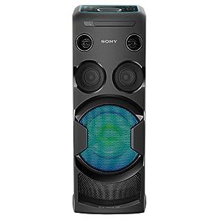 Sony MHC-V50D All-in-One High Power Audio System mit Partylichteffekten und Sound Pressure Horn (CD/DVD Wiedergabe, Bluetooth, NFC, USB, Mega Bass, Karaoke) schwarz