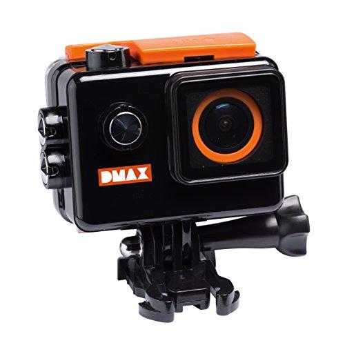DMAX 4k UHD Action Camera mit 16 MP, 2 Zoll LCD Display, 170° Weitwinkel-Linse, WLAN, 3840*2160 Px Videoauflösung, wasserdichtem Gehäuse und umfangreichem Zubehör