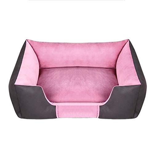 Haustier-Kisten-Bett, Haustier-Bett, Hundebett u. Kisten-Matte, Maschinen-waschbares Haustier-Bett-Zwischenlage 72 * 52cm, 3 Arten Farbe wahlweise freigestellt (Farbe : Pink)