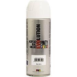 PintyPlus Evolution - Pintura acrílica en spray - Blanco 9016/602 - 400 ml