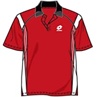 Lotto Polo Race pl Junior, joven, Flame/White, infantil niño, color rojo y blanco, tamaño 176