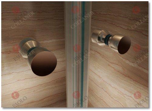 85cm – Verstellbereich von 84-88cm, Duschabtrennung, Duschtür aus 6mm Sicherheitsglas mit Nanobeschichtung - 5