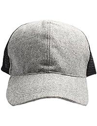 Accessoryo - Casquette de baseball gris avec dos texturé noir
