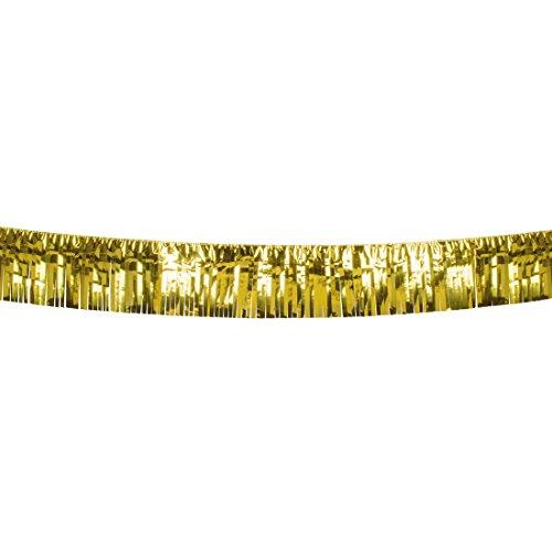 Partygirlande goldene Hochzeit - 6 m - Lametta Girlande Gold VIP Raumdeko Silvester Foliengirlande Raumdekoration Partydeko Lametta Girlande Gold