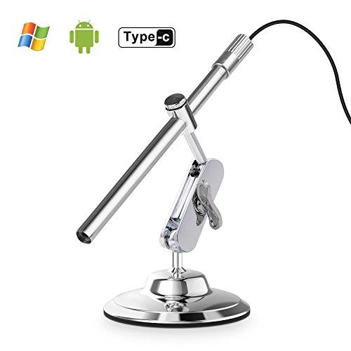 Depstech Inspektionskamera digitales USB Mikroskop mit 10 bis 200-facher Vergrößerung, 8LED \'s OTG für Android, Smartphone, Mac und Windows PC