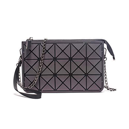 Bedolio Damentasche Eisenkette Damentasche Rhombische Kette Damentasche Diagonale Paket, C - Eisenkette Kette