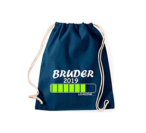 ShirtInStyle Gym Sack Turnbeutel Loading BRUDER 2019 Blau