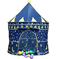 Denny International® Prince Castle Play Tent Indoor Garden Outdoor Indoor Palace Beach Summer Tent Camp Shelter