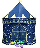 Prince or princess summer Palace Castle Children kids Play Tent house indoor or outdoor garden toy wendy house playhouse beach sun tent boys girls (Blue Prince)