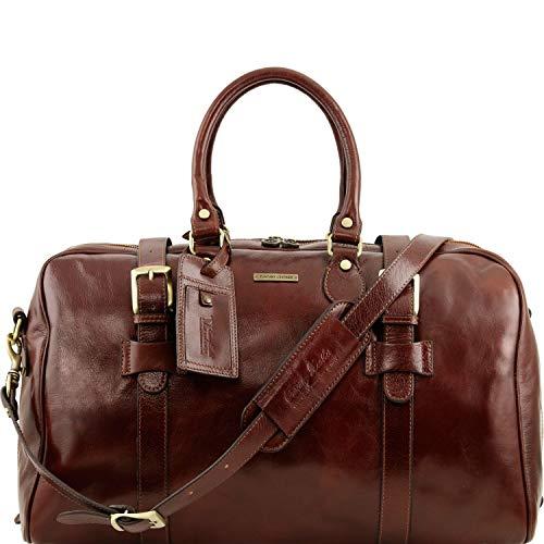 Tuscany Leather TL Voyager Sac de voyage en cuir avec boucles- Grand modèle Marron
